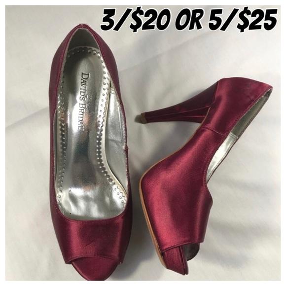 338027bf7ef David s Bridal Shoes - David s Bridal Paloma Wide Peep Toe Platform 7.5